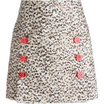 Dolce & Gabbana - printed mini skirt - women - Silk/