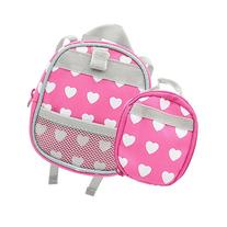 Doll BackPack, Set of 2 Doll Size Back Pack and Lunch Bag
