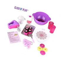Click n' Play Doll Baking Set with Apron and Chef Hat,