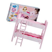 Wooden Doll Bunk Bed and Bedding
