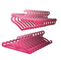 LittleKelly Doll Hangers, Set of 20 Pink Plastic Hangers,