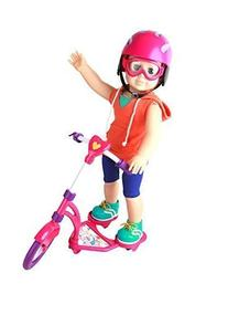 Click n' Play Doll Scooter and Helmet Set, Perfect For 18