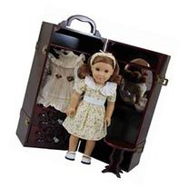 The Queen's Treasures Doll Storage Trunk with Vanity for