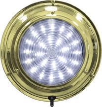 SeaSense Dome LED Light White, 7-Inch, Brass