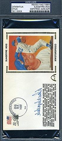 Don Drysdale Signed Psa/dna Fdc Authentic Autograph