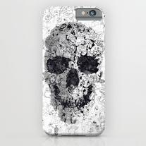 Doodle Skull Bw iPhone 6s Case