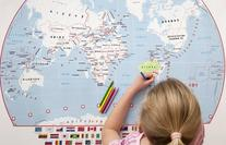 Doodle World Map - Kids Coloring Poster for the young