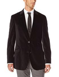 Tommy Hilfiger Men's Velvet Blazer, Black, 42 Long