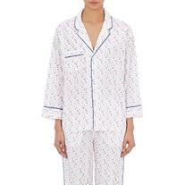 Sleepy Jones Women's Dot-Embroidered Marina Pajama Top