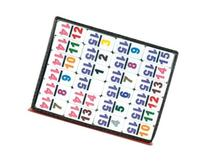 Double 15 Professional Mexican Train White Tiles with
