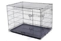 "Merax 36"" Double-Door Folding Pet Dog Crate Cage Kennel With"