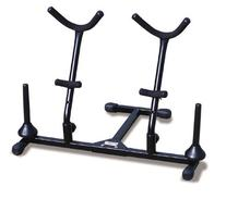 Hamilton Double Alto/Tenor sax Stand, Black, includes 2 pegs