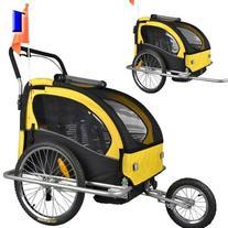 Veelar Children Double Bicycle Trailer Jogging Stroller