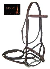 Paris Tack Double Fancy Stitch Figure 8 Bridle with Reins