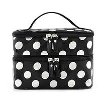 Kalevel 2-Layer Zipper Toiletry Travel Cosmetic Bag Makeup