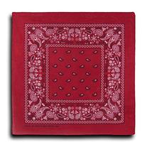 Kaiser Collection Double Sided Paisley Bandanas , Red