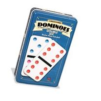 Double-Six Color Dominoes in Collectors' Tin
