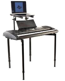 Double Piano Keyboard and Laptop Stand by Griffin | 2 Tier/