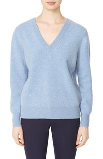 Women's Victoria Beckham Double V-Neck Felted Lambswool