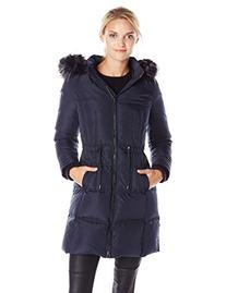 Women's 7 For All Mankind Down Parka with Faux Fur Trim,