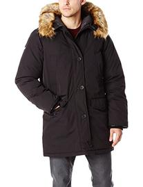 Vince Camuto Men's Down Snorkel Coat with Fur-Trimmed Hood,