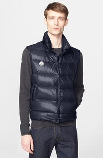 Men's Moncler 'Tib' Down Vest, Size 2 - Blue
