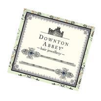 Downton Abbey® Sapphire Blue & Diamond-like Crystal Silver