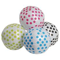 Dozen Assorted Color Polka Dot Theme Beach Balls - 16