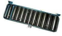 "12 Pcs 1/2"" Dr. Deep Impact Socket Set - Metric"