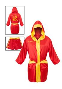 Ivan Drago Costume Satin Robe & Short Combo