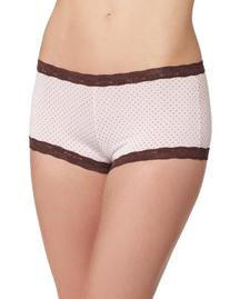Maidenform Dream Lace Boyshorts - Pink Chocolate Dot Women's
