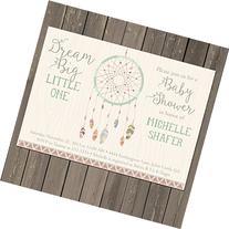 Dreamcatcher Baby Shower Invitation, Dream Catcher Tribal