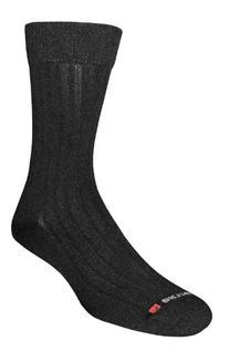 Drymax Dress Crew Socks, Black, Small