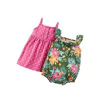 Carter's Baby Girls' 2-Piece Dress & Romper Set
