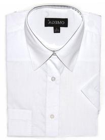Gravity Threads Mens Dress Shirt Short Sleeve Design Button