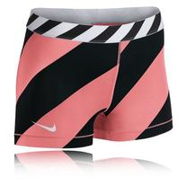 Women's Nike 'Pro' Dri-FIT Stripe Shorts, Size Medium - Pink