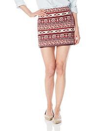 Jack Women's Drina Jacquard and Polyurethane Trim Mini Skirt