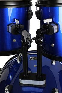 Drum Set Full Size Adult 5-piece Complete Metallic Blue with