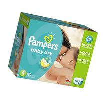 Pampers Baby-Dry Disposable Diapers Size 4, 180 Count,