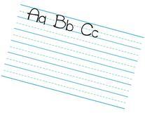 Dry erase Magnetic sheet - Handwriting paper design. 11x17