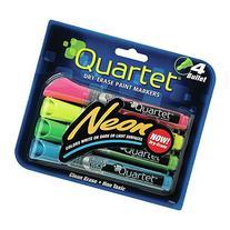 Quartet Dry Erase Markers, Bullet Tip, Glo-write, Neon,