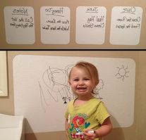 Dry Erase Sheets with Dry Erase Marker - Heavy Duty 4 mil