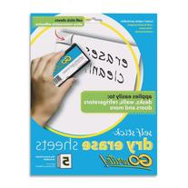 Pacon GoWrite! Dry Erase Self-Adhesive Sheets, 8 1/2 inches