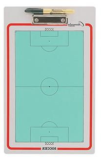 Champion Sports Double-Sided Dry-Erase Soccer Coach's