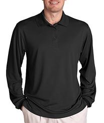 Men's Cool & Dry Mesh Sport Long-Sleeve Polo