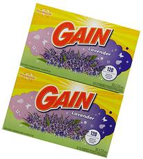 Gain Dryer Sheets - Spring Lavender - 120 ct - 2 pk