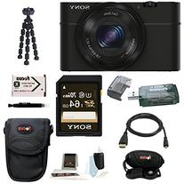 Cyber-shot DSC-RX100 Digital Camera with 10-Inch Spider