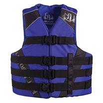 Full Throttle Adult Dual-Sized Nylon Water Sports Vest, Blue