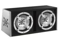 """Xtreme Dual 10"""" Slot Ported 500w Sub Box with Amplifier"""
