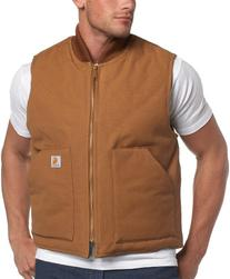 Carhartt Men's  Duck Vest,Brown,Medium